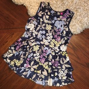 Vince Camuto Sleeveless Floral Blouse size Small